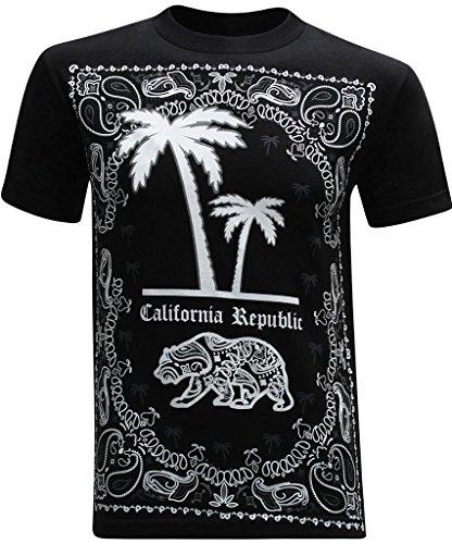 California Republic Bandana Palm Men's T-Shirt