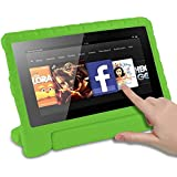 CAM-ULATA for Fire HD 8 Tablet Case for Amazon Kindle Kids Edition 6th Generation 2016 Release Shockproof with Rotating Stand Handle Holder EVA Soft Kid Proof Child Protective Cover Green