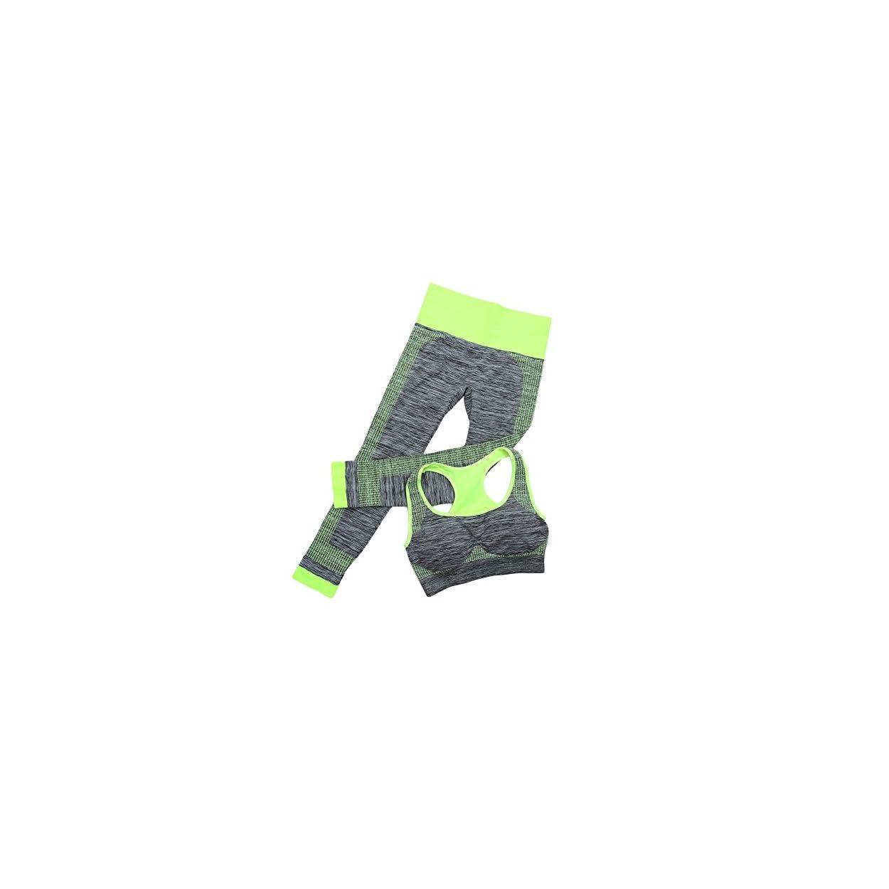 bb5fb392def Daxin Women Yoga Fitness Seamless Bra+Pants Leggings Set Gym Workout Sports  Wear 51x2QAZWeCL