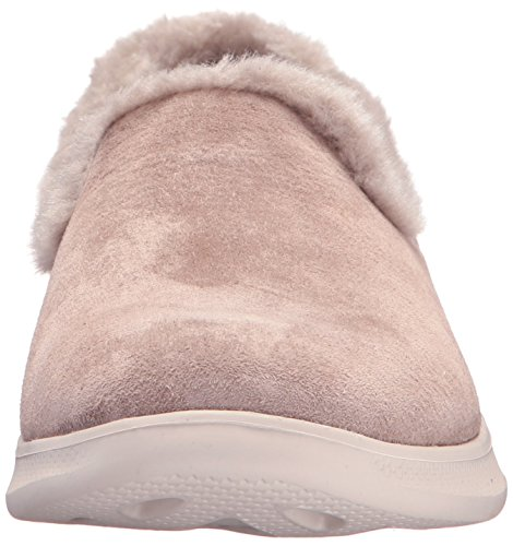 clearance huge surprise buy cheap largest supplier Skechers Women's Go Step Lite-Fuzzies Loafer Flat Taupe 8FBEt