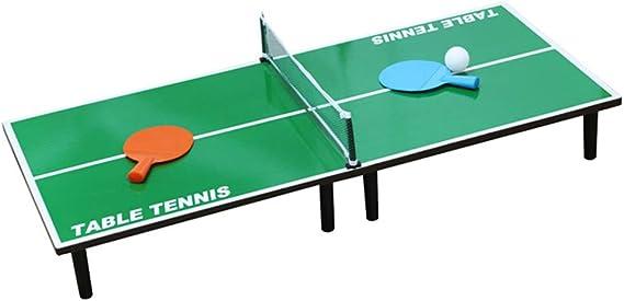 Lcyy-game Mini portátil Mesa de Ping Pong Tenis Tabla Juego Conjunto para los niños Juguetes: Amazon.es: Hogar
