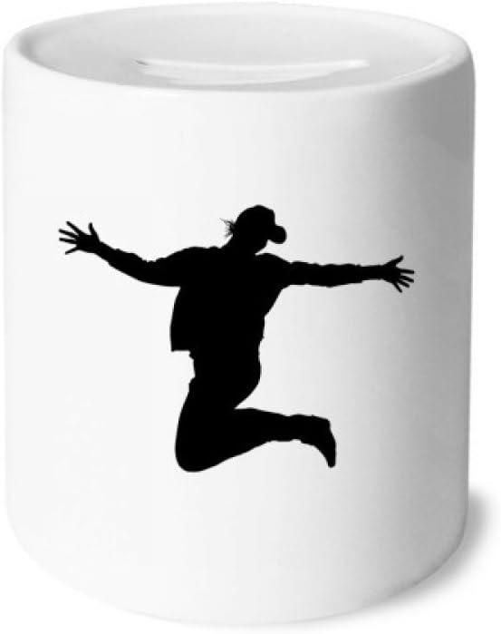 DIYthinker La educación física de Salto Deportes Caja de Dinero de Las Cajas de ahorros de cerámica Adultos Moneda de la Caja para niños: Amazon.es: Juguetes y juegos