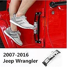 FMtoppeak Black Exterior Accessories Steel Door Side Step Running Board Plate Kit For Jeep Wrangler jk 2007-2016