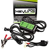 KeyLine Chargers KC-75A-MP 12V 0.75 Amp Automatic Mini Pro Car Battery Charger (5 Stage Maintainer, Conditioner, Desulfator and Tender)