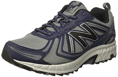 New Balance Men's MT410v5 Cushioning Trail Running Shoe, Grey, 8.5 4E US