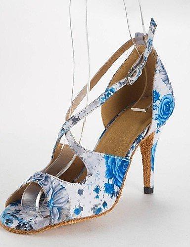 ShangYi latines Les sandales de femmes latines satin talon danse aiguille Light Buckie chaussures de danse Light Blue b53aa2c - shopssong.space
