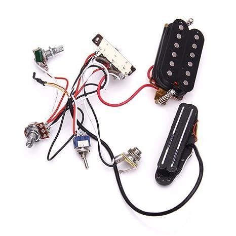 Platine, Circuito cableado pastillas Les Paul SG - One A500K, One B500K 9655-X: Amazon.es: Instrumentos musicales