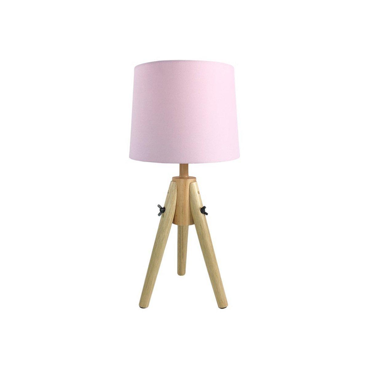 Lámpara de mesa escandinava en madera rosa: Amazon.es: Hogar