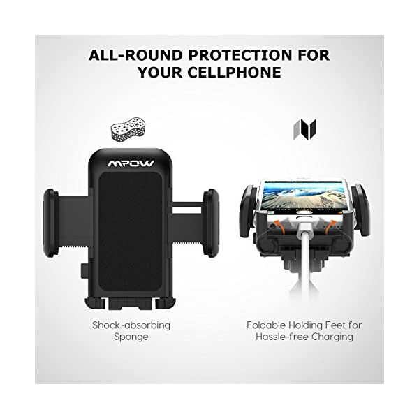Mpow Cell Phone Holder For Car Windshield Long Arm Car Phone Mount With One Button Design And Anti Skid Base Car Holder For IPhone X877P6s6P5S Galaxy S5S6S7S8 Google LG Huawei And More