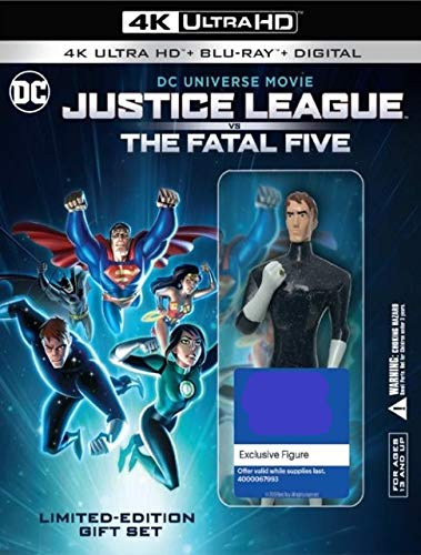 Justice League vs. The Fatal Five Limited Numbered Edition Gift Set: # of 9500 (4K Blu-ray+Blu-ray+Digital) with Exclusive Star Boy Figure