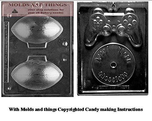 3D Football Chocolate Candy Mold, Video Game controller choc