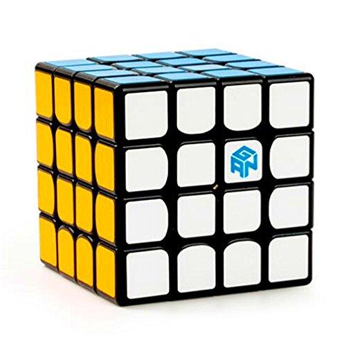 CuberSpeed Gan 460 M Black 4x4 Speed Cube Gans 4X4X4 Magnetic Black Magic Cube