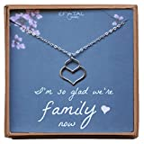 Mother, Sister, Daughter In Law Necklace, Sterling Silver Small Double Lotus Jewelry Gift, Bridal Party