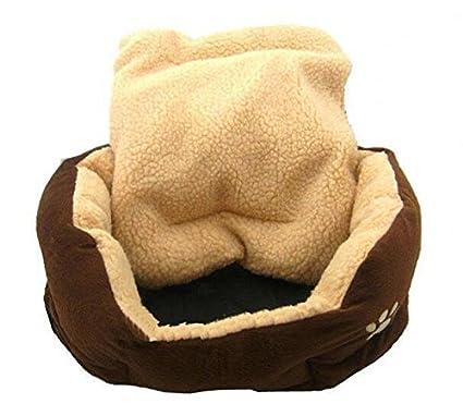 LAMEIDA Cama de Mascota de Peluche Cama de Mascota de Forma Redonda Cama de Peluche para