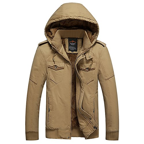 Sunline Clothesline (H.T.Niao Jacket8936C3 Men 's Casual and Cold Plus Cotton Jackets(Khaki,Size XL))