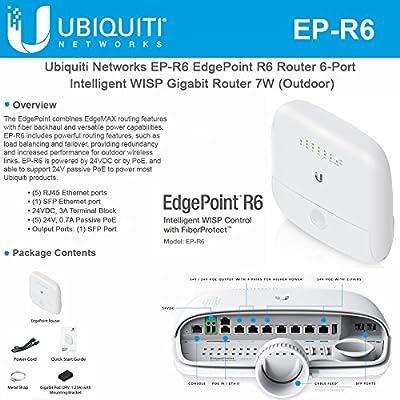 EdgePoint R6 EP-R6 Router 6-Port Intelligent WISP Gigabit Router 7W Outdoor