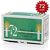 Ner Zion Shabbat Candles Deluxe, 72 Piece