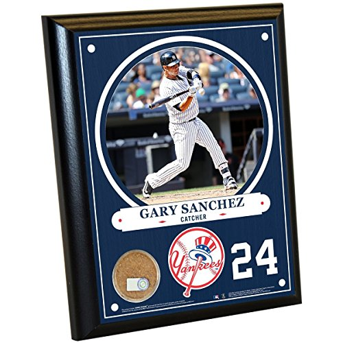 Gary Sanchez New York Yankees 8x10 Plaque with Game Used Yankee Stadium Dirt (Yankee Stadium Plaques)
