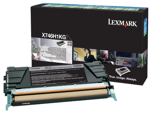 Lexmark LEXX746H1KG Toner Cartridge Black Laser, 12000 Page 1 / Pack Toner by Lexmark