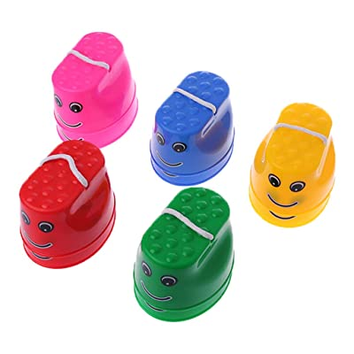 Ogquaton Niños Outdoor Balance Training Smile Face Jumping Stilts Shoes Walker Toys: Hogar