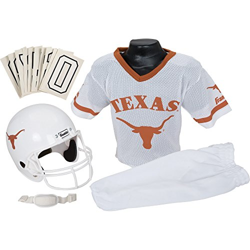 Franklin Sports NCAA Texas Longhorns Deluxe Youth Team Uniform Set, (Costume Football Helmet)