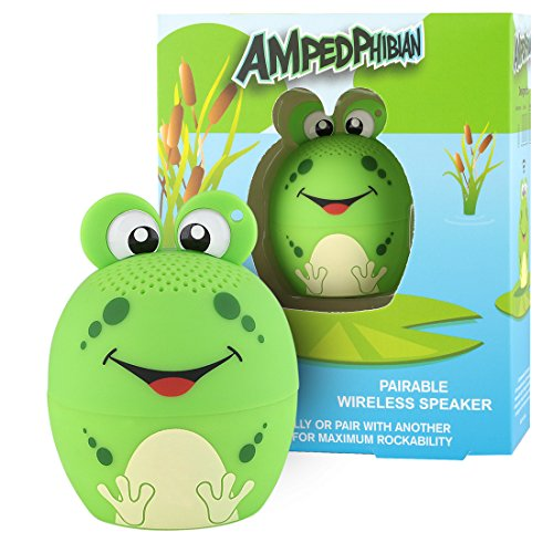 My Audio Pet Mini Bluetooth Animal Wireless Speaker Boys Toy with TRUE WIRELESS STEREO TECHNOLOGY – Pair with another TWS Pet for Powerful Rich Room-filling Sound – (AMPEDphibian)