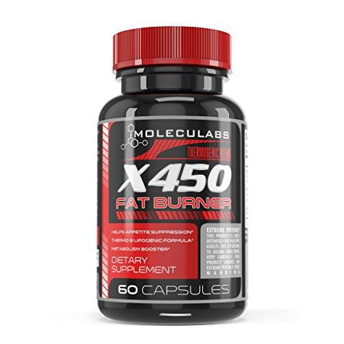 X450 FAT BURNER - Advanced formule thermogénique pour perdre du poids et de l'énergie naturelle - par Moleculabs