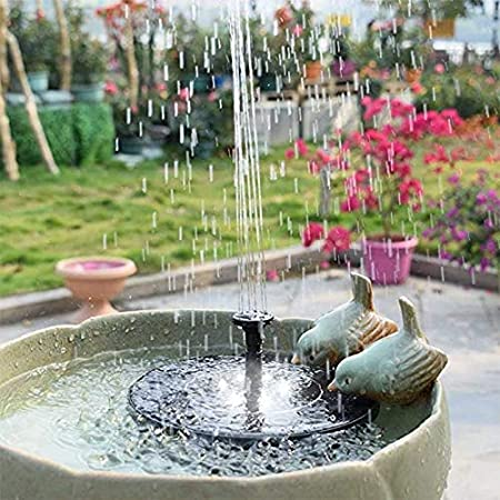 Solar, bomba de fuente, 2.4W jardín flotante solar bomba del estanque de agua Fuente, baño