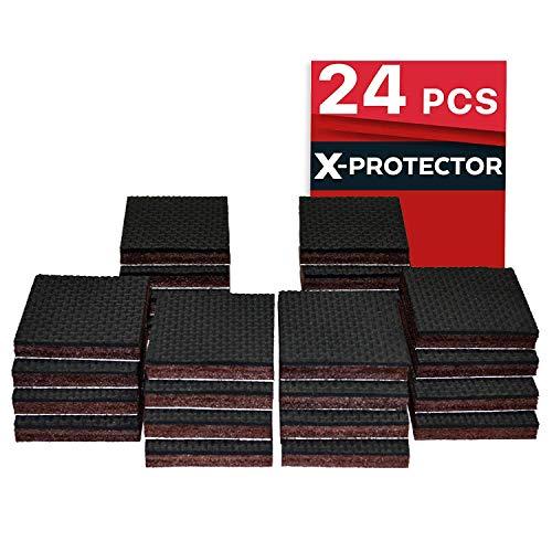 Non Slip Furniture Pads X-PROTECTOR - Premium 24 pcs 1 1/2