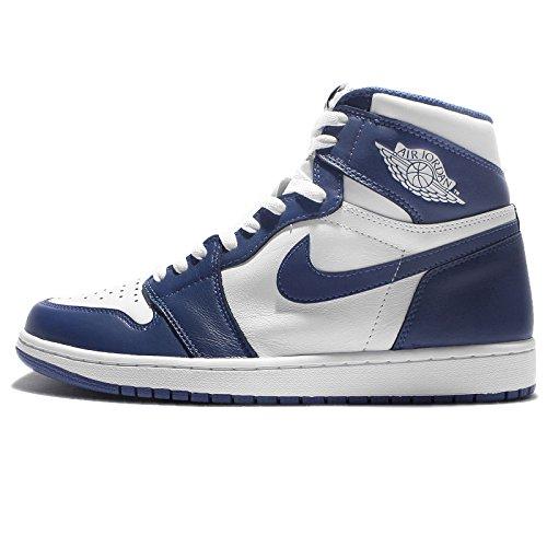 Nike Air Jordan 1 Retro Hoog Og Blauw Stormwit 555088 127 Maat 17