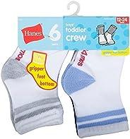 Hanes Toddler Boys 6-Pack Crew Socks