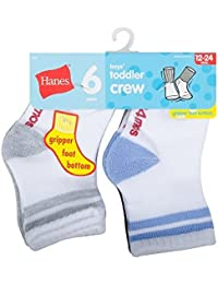 Boys' Toddler Crew Non-Skid Socks