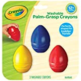 Crayola My First Palm Grip Crayons, 3ct, Coloring