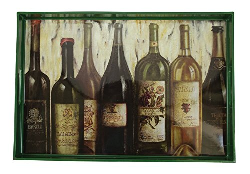 Wine Lineup Plastic Serving Tray by Boston Warehouse by Boston Warehouse