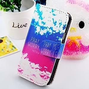 El cielo azul caja de cuero de la PU para Samsung Galaxy S2 i9100