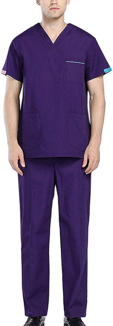 Nati - Conjunto de uniforme quirúrgico unisex con cuello en V ...