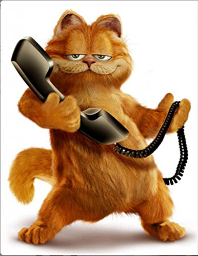 Cat animal garfield call the phone 16*20 inch.