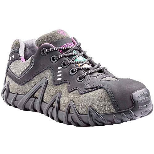 (Terra Women's Spider Composite Safety Toe EH Puncture Resistant Industrial Boot Black/Purple 7 Medium US)