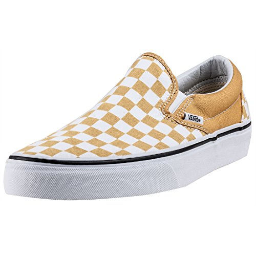Vans Classic Slip-On Checkerboard Unisex Slip On Yellow White - 10.5 UK (Checkerboard Yellow)