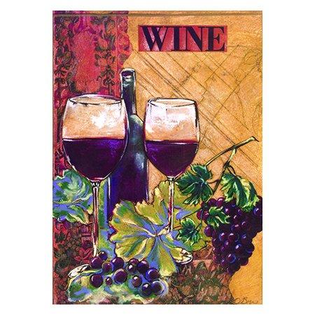 Everyday Wine Me Outdoor Decorative Garden Mini Flag 13