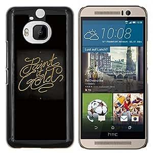 LECELL--Funda protectora / Cubierta / Piel For HTC One M9Plus M9+ M9 Plus -- Paint It Oro --