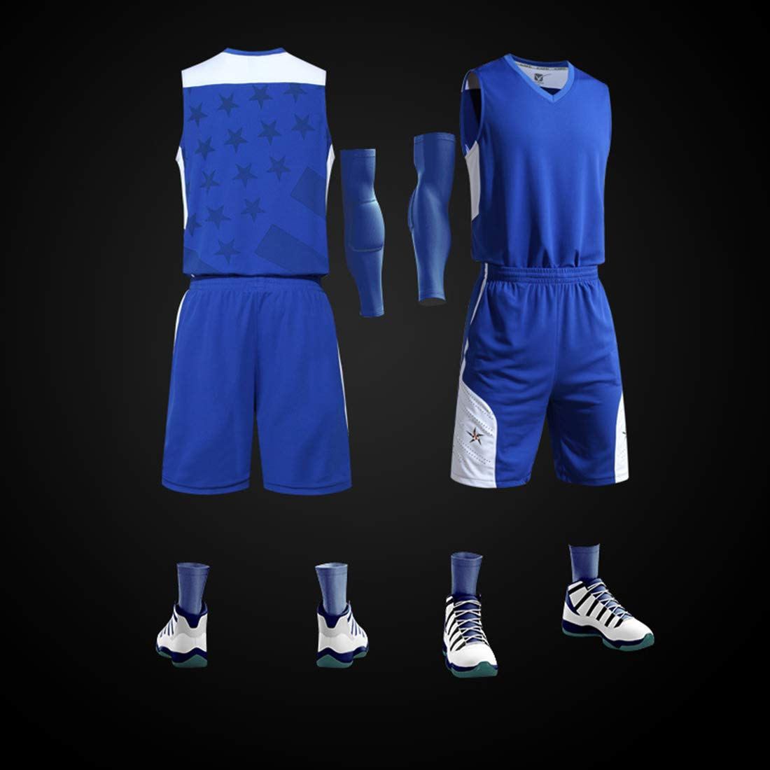 GWELL Herren Jungen Basketballtrikot Set Trikot /& Shorts Basketballanzug Basketball Jersey Uniform