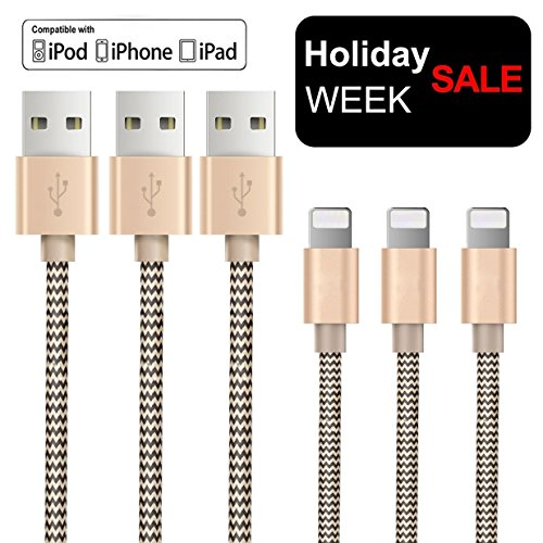 iphone charger cable pack Gold