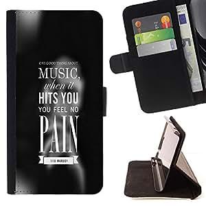Momo Phone Case / Flip Funda de Cuero Case Cover - MÚSICA le golpea - Samsung Galaxy A5 ( A5000 ) 2014 Version