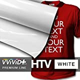 VVIVID+ White Premium Line Heat Transfer Vinyl Film for Cricut, Silhouette & Cameo (12'' x 600'' (50ft))