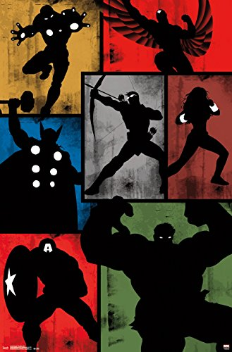 Trends International Marvel Comics Avengers Simplistic Grid Wall Poster 22 375  X 34