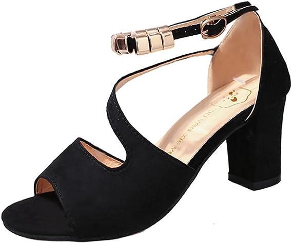 schwarz sandalen mit absatz