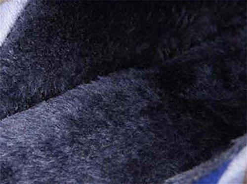 interiores hombres para de grandes amp;XY de de grueso acolchado casa más antideslizantes zapatos 44 W al algodón invierno algodón final Zapatillas IXnwP