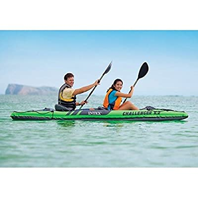68306EP Intex Challenger K2 Kayak, 2-Person Inflatable Kayak Set with Aluminum Oars and High Output Air Pump from Intex