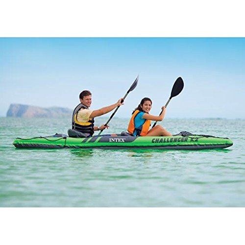 68306EP Intex Challenger K2 Kayak 2 Person Inflatable Kayak Set